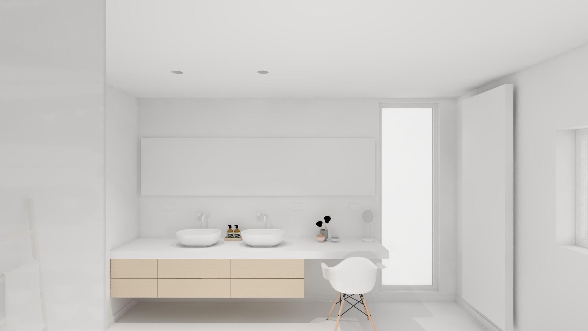 interieurarchitectuur nieuwbouw badkamer