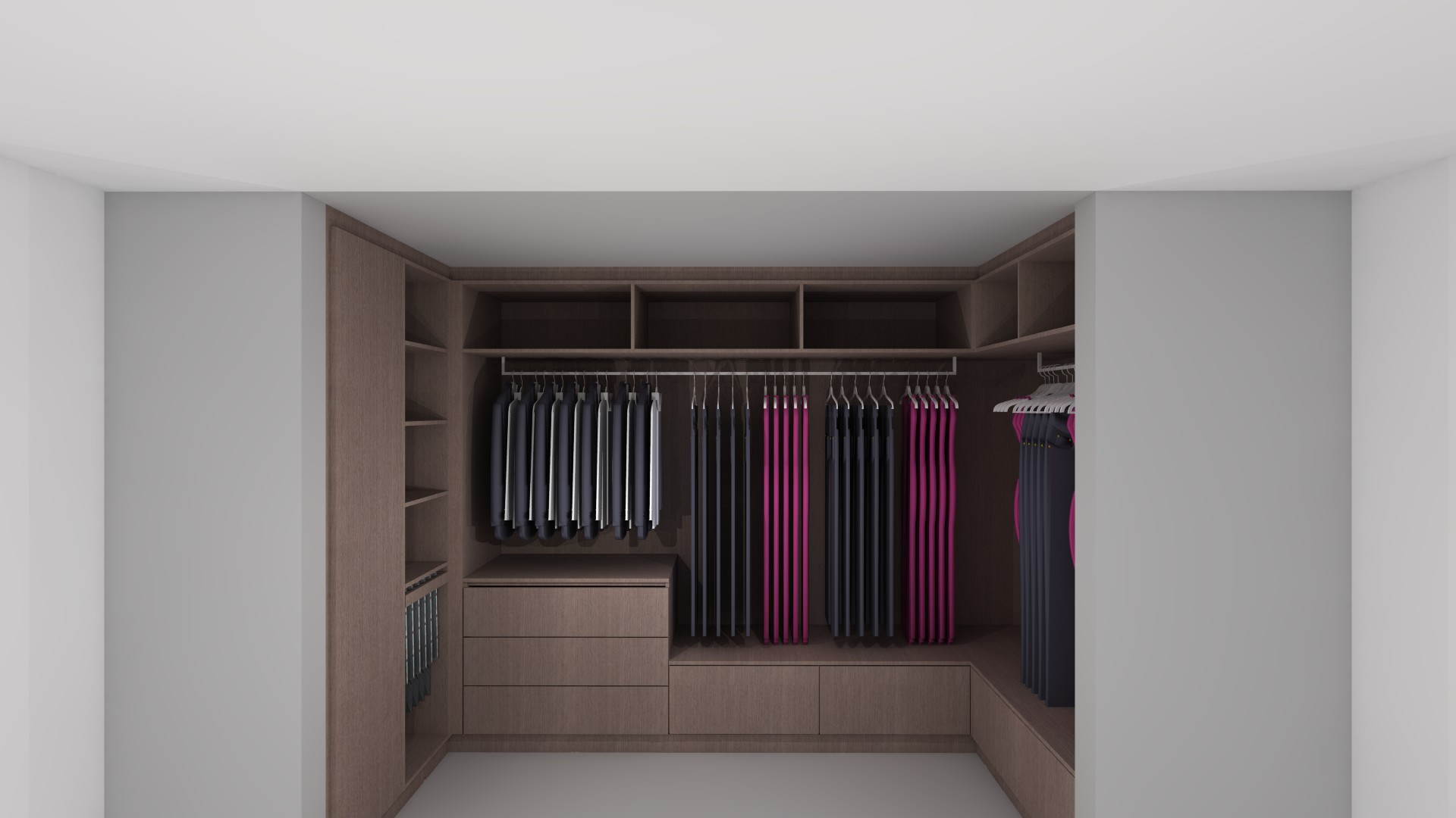interieurarchitectuur nieuwbouw dressing