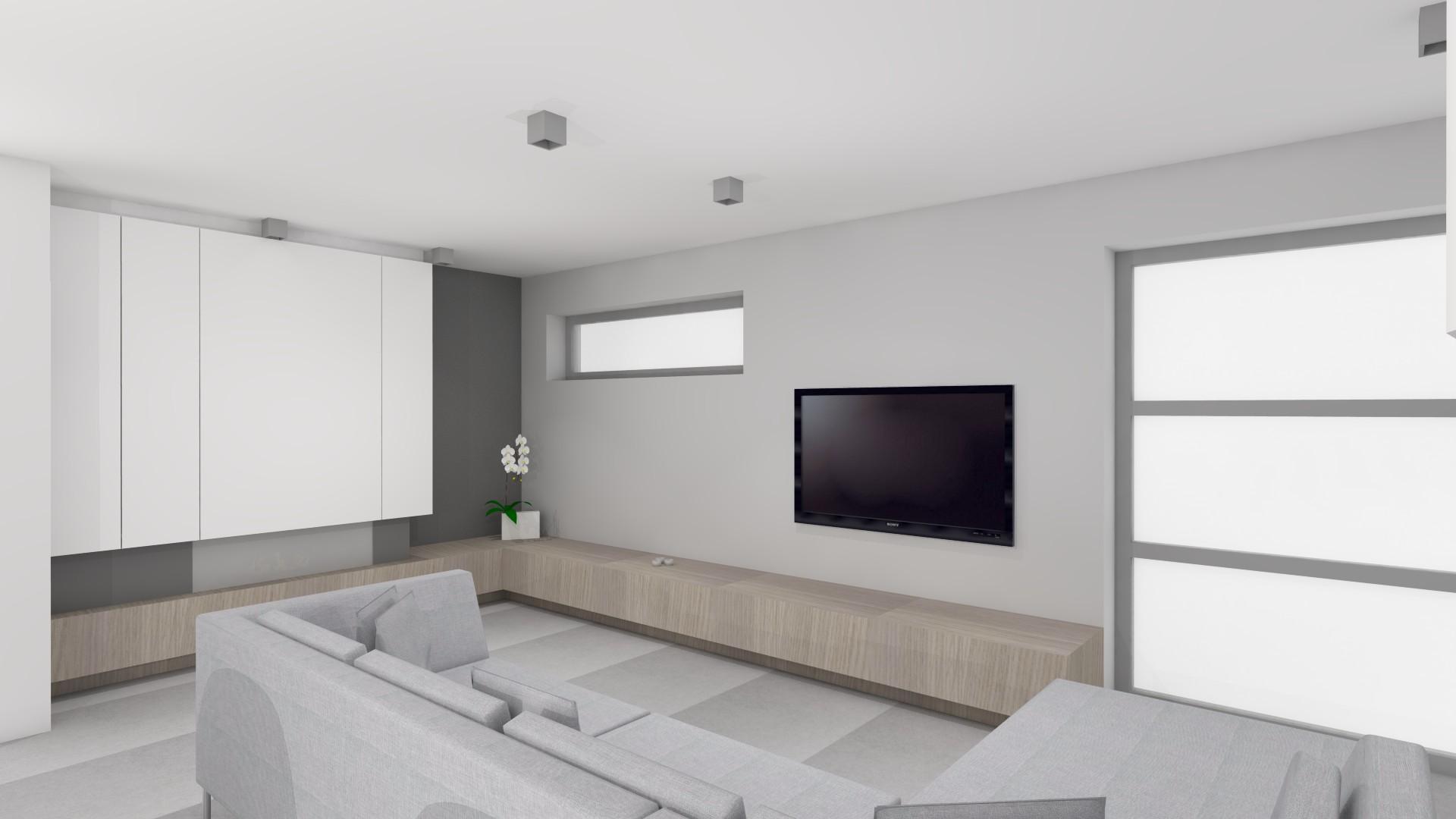 interieurarchitectuur nieuwbouw woonkamer met gashaard
