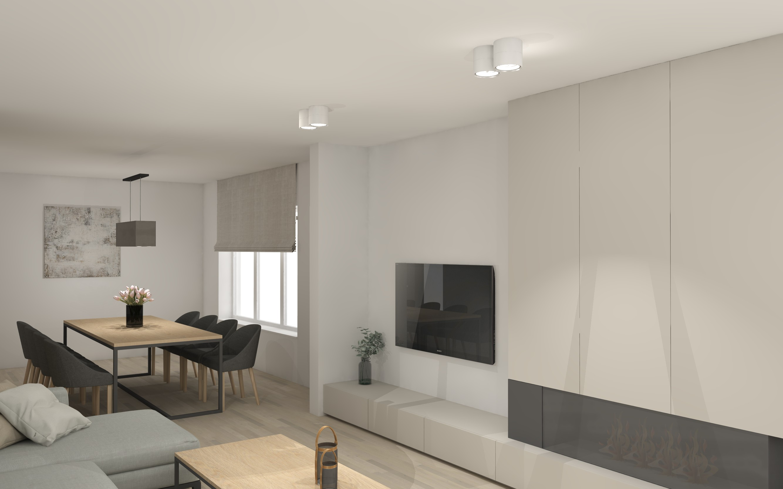 interieurarchitectuur renovatie eet- en woonkamer