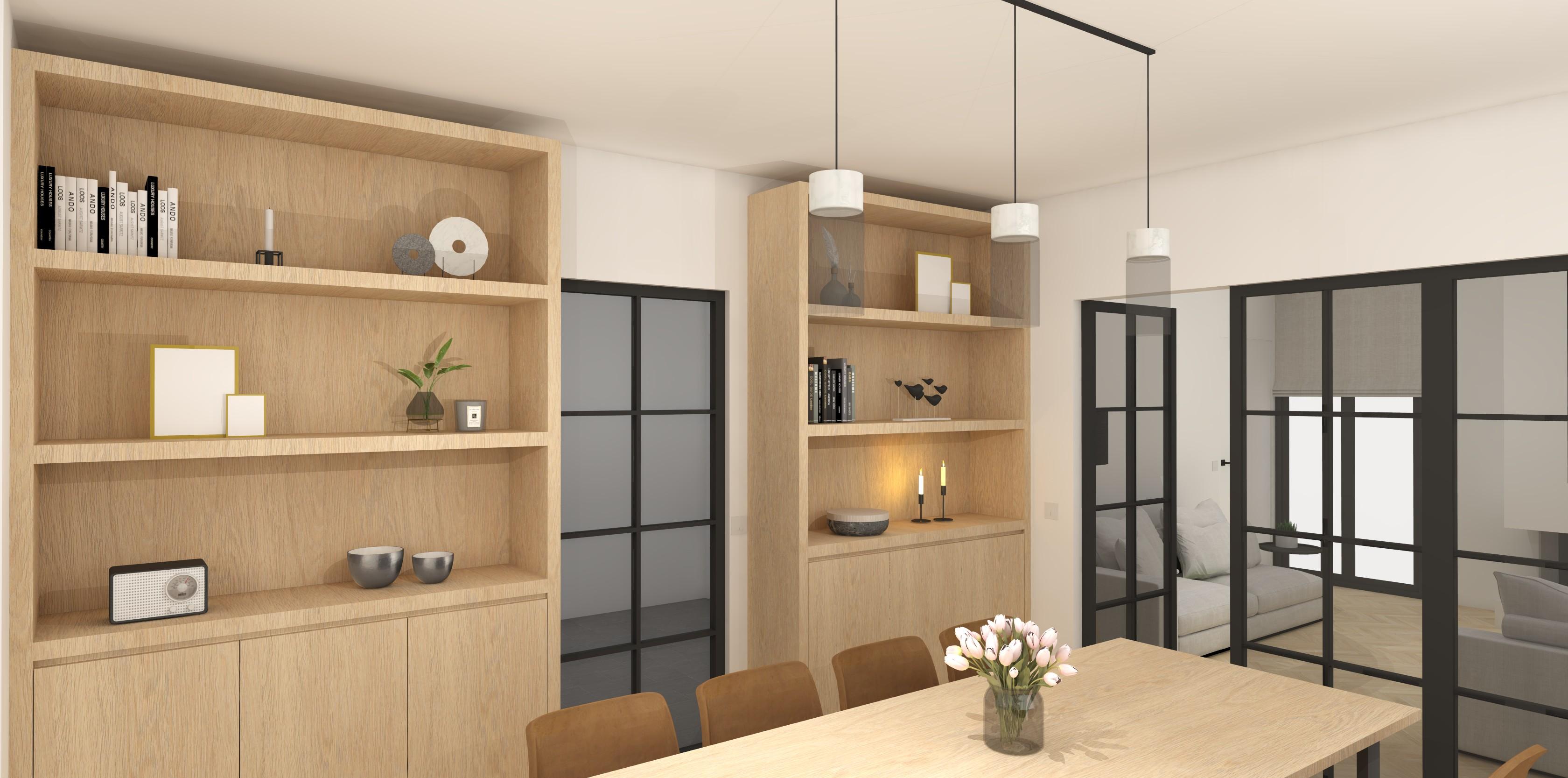 interieurarchitectuur nieuwbouw eetkamer